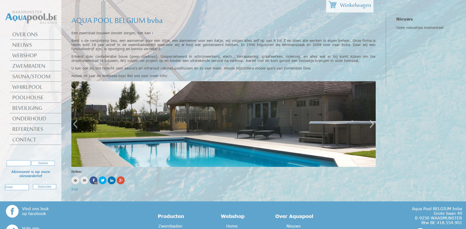 webdesign aquapool