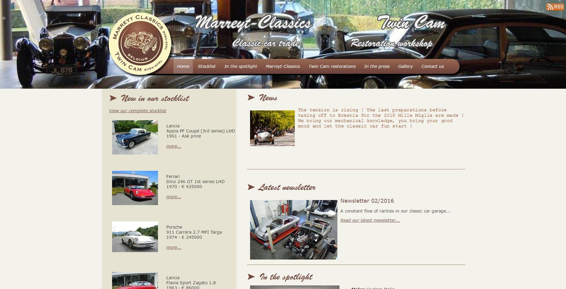 webdesign Marreyt classics