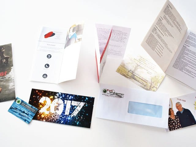 Folders, flyers, (visite)kaartjes, …